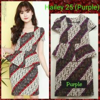 Jual Dress Batik Hailey 25/Dress Batik Peplum/Dress Batik Katun Stretch Murah