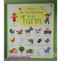 Usborne My First Word Book -- On The Farm,Buku Import Anak