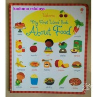 Usborne My First Word Book -- About Food,Buku Import Anak