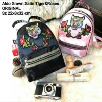 Aldo Grawn Satin Tiger & Roses Aldo Backpack