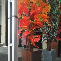 Jual pohon hias|daun anggur|orenge| bahan kain plastik Murah