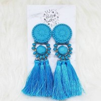 Jual NICKY - LIMITED EDITION LIGHT BLUE STATEMENT EARRINGS Murah