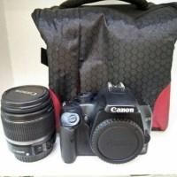 Kamera DSLR CANON EOS 1000D + LENSA 18-55 Second Kondisi Mulus (16 GB)