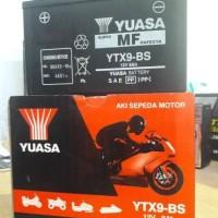 Accu motor Yuasa YTX9-BS untuk kawasaki Ninja 250