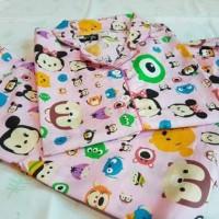 Baju Tidur Dewasa Piyama Tsum Tsum Disney Pink Celana Pendek