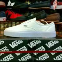 Sepatu Vans Authentic Full White Putih Polos Sneakers Pria Grade Ori