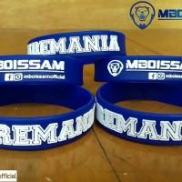Gelang Arema supporter Aremania bahan karet + sablon rapi mboissam