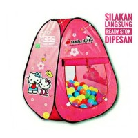 Tenda Segitiga Hello Kitty Mainan Edukasi Anak Mandi Bola Pink Promo