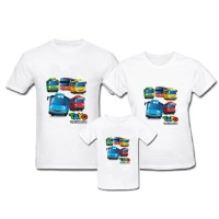 Kaos Family - Baju Keluarga Family Tayo Little Bus All