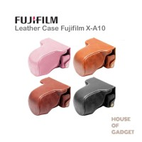 Bag Leather Case Tas Kamera Mirrorless Fujifilm X-A10 XA10