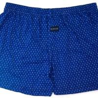 Jual Celana Boxer Biru Dongker Motif Bunga Murah