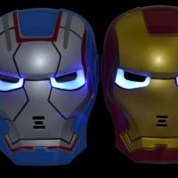 Jual Topeng Iron Man Nyala Lampu LED Limited Edition Main Murah