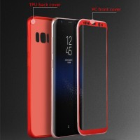 Soft TPU Front and back cover case samsung galaxy s8 & FREE ANTIGORES