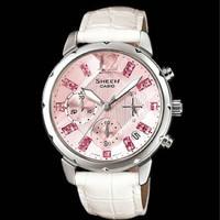 Jual jam tangan wanita merk CASIO SHEEN ORIGINAL BM leather STRAP Murah