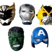 Jual Topeng Nyala Lampu Super Hero Heroes Avenger Hulk Ironman Spiderman ok Murah