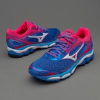 Sepatu Lari Mizuno Womens Wave Inspire 13 Strong Blue White