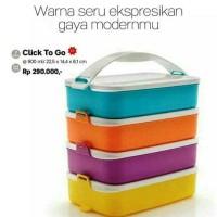 Jual Tupperware Click To Go klik Clic Clik T Rantang 4 Susun Murah