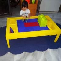 meja lego model tanpa kursi (duduk di lantai)
