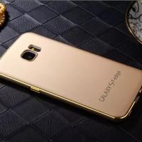 METAL MATTE Case Samsung S4 S7 FLAT EDGE Back Cover Casing Bumper HP