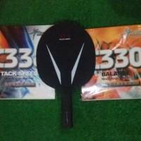 setup bet pingpong tenis meja blade dan rubber sepasang
