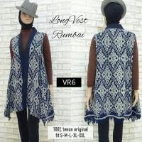 Jual Tenun Long Vest Rumbai Ethnic cardigan batik etnik cardi outer outwear Murah