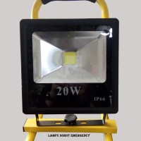 Lampu Sorot Emergency / LED Rechargeable Flood Light Series 20W