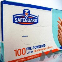 Sarung tangan karet disposable merk Safe Guard