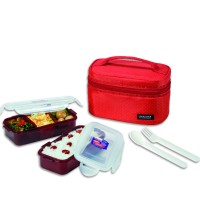 LOCK&LOCK Lunch Box Set With Bag and free water bottle