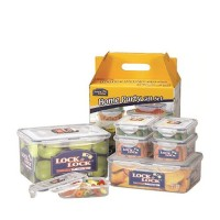 Lock & Lock Gift Set Plastic Food Container Clear (HPL827V7)