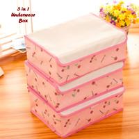 Perlengkapan Rumah Tangga Hot List 3in1 Underwear Box PINK CHERRY