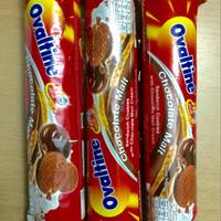 Jual Ovaltine Thailand Chocolate Malt Sandwich Cookies berlabel Halal Murah
