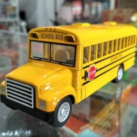 Diecast Kinsmart Kinsfun Mobil School Bus Sekolah Pullback KS5107W