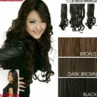 Jual Hair clip 3 layar by 7 revolution curly dan straight 60 cm Murah