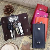 Jual Gantungan Kunci Mobil Kulit Leather Keychain Holder Organizer Murah