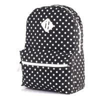 Jual Tas Wanita Ransel Backpack Wanita Laptop Hitam Polkadot IO 4114 Murah