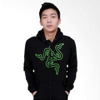 Outerware Apparel Gaming Store Hoodie Razer V3 Jaket Pria - Black