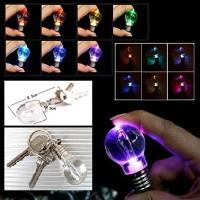 Jual Gantungan Kunci Lampu Bohlam LED Mini Flash Multi Color Light Murah
