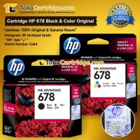 Tinta HP 678 Black & Colour Original (1 SET) Tinta HP CZ107AA CZ108AA