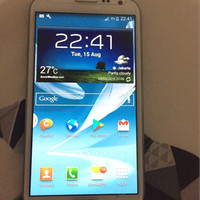 Samsung Galaxy Note 2 N7100 White second pemakaian pribadi