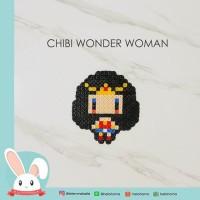 [BAG CHARM / NECKLACE] CHIBI WONDER WOMAN PIXEL ART HAMA BEADS