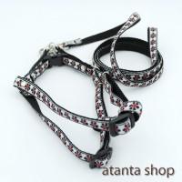 atanta - Tali + Harness lebar 1cm untuk kucing / anjing kecil