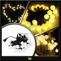 Jual Lampu hias led bulat bola kelereng dekorasi natal twinkle warm white Murah