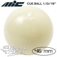 "White Cue Ball 1.13/16"" - 46 mm Bola Putih Biliar Billiard Bilyard Kiu"