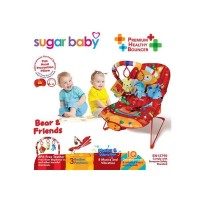 Jual Sugar Baby Bouncer 3 Recline Positions Bear & Friends Murah