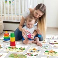 Jual Karpet bayi PARKLON Rush Hour Korea Baby Playmat PE Roll Play Mat Alas Murah