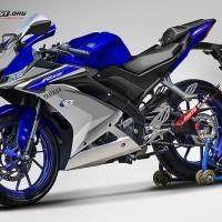 Decal stiker Yamaha R15 v3 Livery R1M Blue GP