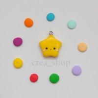 Jual Kawaii Bintang Clay Charm - Handmade Fimo Clay Murah