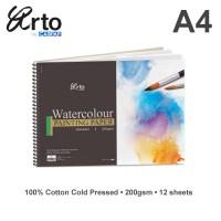 Arto A4 Water Colour Book 200gsm - Cotton