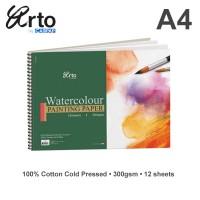 Arto A4 Water Colour Book 300gsm - Cotton