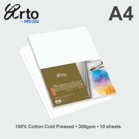 Arto A4 Water Colour Paper 300gsm - Cotton
